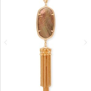 Kendra Scott Rayne long necklace in rose gold